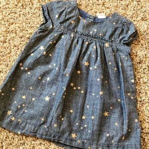 Denim gold star dress
